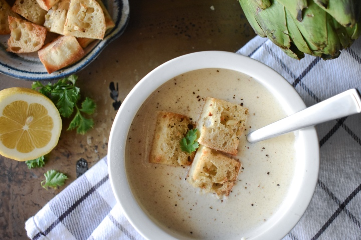 Creamy Artichoke & CauliflowerSoup